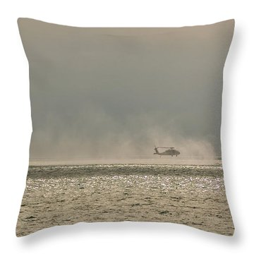 Navy Life Saving Practice Throw Pillow by Angela A Stanton