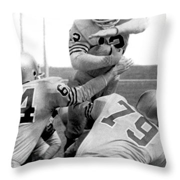 Navy Quarterback Staubach Throw Pillow by Underwood Archives