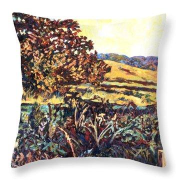 Near Childress Throw Pillow by Kendall Kessler