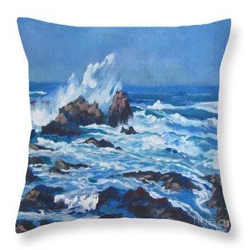 Near Pt. Joe Throw Pillow by Vanessa Hadady BFA MA