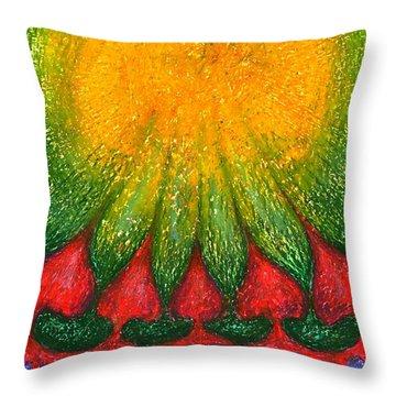 Nearer Sun Throw Pillow by Wojtek Kowalski