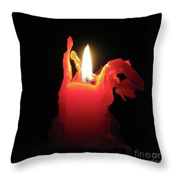 Nearing Burnout Throw Pillow by Ann Horn