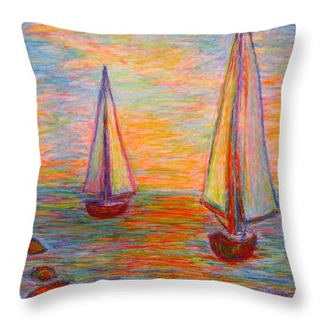 Nearing The Shoals Throw Pillow by Kendall Kessler