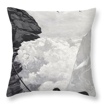 Nearly There Throw Pillow by Arthur Herbert Buckland