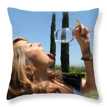 Necture Of The Gods...every Last Drop Throw Pillow by Pamela Walrath