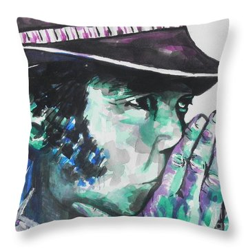 Neil Young Throw Pillow by Chrisann Ellis