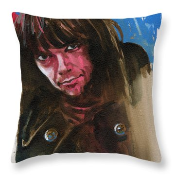 Neil Young Throw Pillow by Ken Meyer jr
