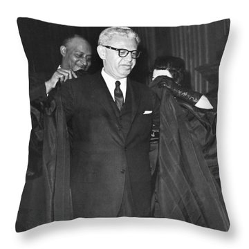New Court Justice Goldberg Throw Pillow by Underwood Archives