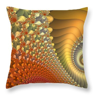 New Day Throw Pillow by Jutta Maria Pusl