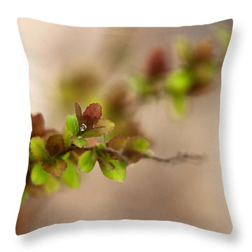 New Life Throw Pillow by Christina Rollo