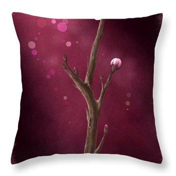 New Life Throw Pillow by Veronica Minozzi