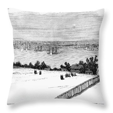 New London, Connecticut Throw Pillow by Granger