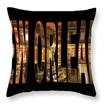 New Orleans French Quarter Throw Pillow by Marvin Blaine