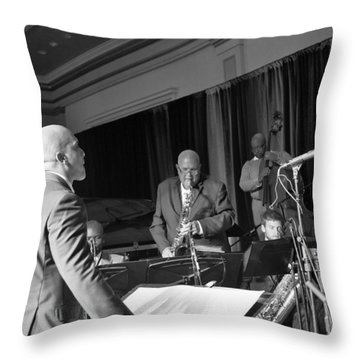 New Orleans Jazz Orchestra Throw Pillow by William Morgan