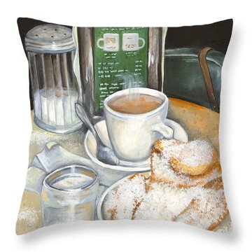New Orleans Night Treat Throw Pillow by Elaine Hodges