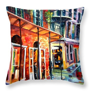 New Orleans Rainy Day Throw Pillow by Diane Millsap
