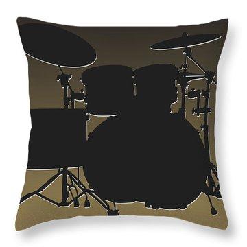 New Orleans Saints Drum Set Throw Pillow by Joe Hamilton
