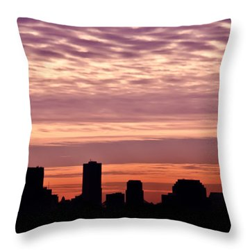 New Orleans Sunrise Throw Pillow by Renee Barnes