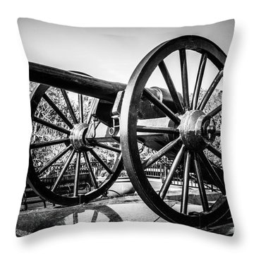 New Orleans Washington Artillery Park Cannon Throw Pillow by Paul Velgos