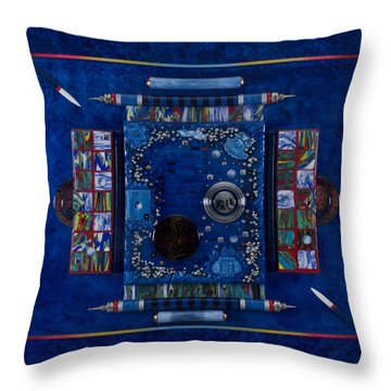 New World Equilibrium Throw Pillow by Armand Elgrissy