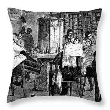 New York: Barbershop, 1882 Throw Pillow by Granger