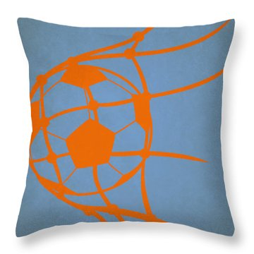 New York City Fc Goal Throw Pillow by Joe Hamilton