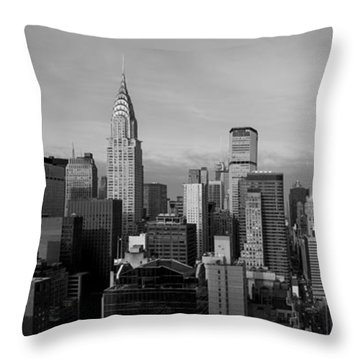 New York City Skyline Throw Pillow by Diane Diederich