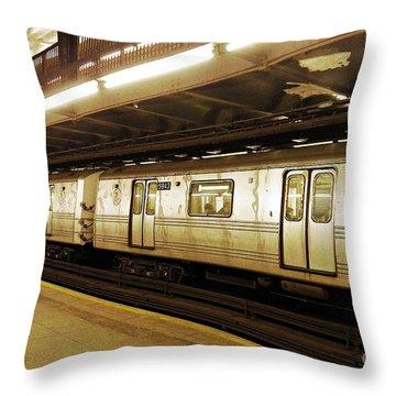 New York City Subway 2 Throw Pillow by Sarah Loft