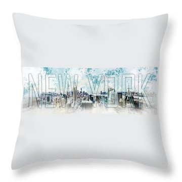 New York Digital-art No.1 Throw Pillow by Melanie Viola