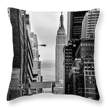 New York Express Throw Pillow by Az Jackson