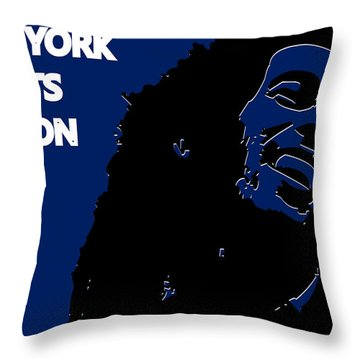 New York Giants Ya Mon Throw Pillow by Joe Hamilton