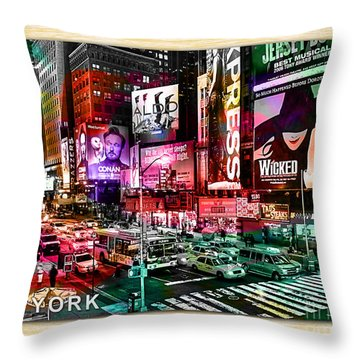 New York Landscape Painting Throw Pillow by Marvin Blaine