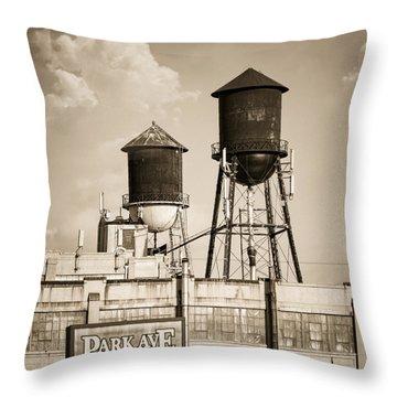 New York Water Tower 8 - Williamsburg Brooklyn Throw Pillow by Gary Heller