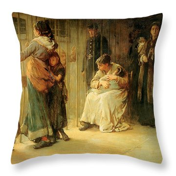 Newgate Committed For Trial, 1878 Throw Pillow by Frank Holl