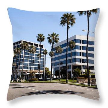 Newport Beach Office Buildings Orange County California Throw Pillow by Paul Velgos