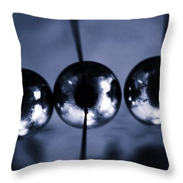 Newtons Cradle Throw Pillow by Stelios Kleanthous