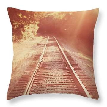 Next Stop Home Throw Pillow by Amy Tyler
