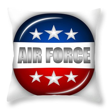 Nice Air Force Shield Throw Pillow by Pamela Johnson