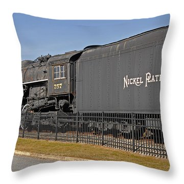 Nickel Plate Road Throw Pillow by Skip Willits