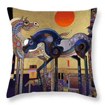 Night And Day Throw Pillow by Bob Coonts