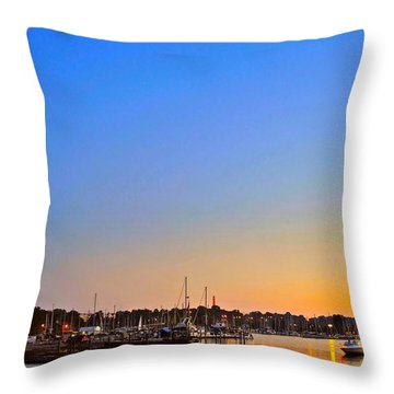 Night Fishing Throw Pillow by Frozen in Time Fine Art Photography