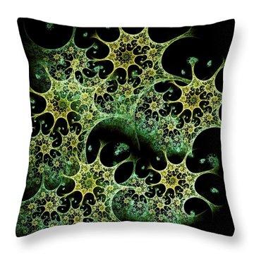 Night Lace Throw Pillow by Anastasiya Malakhova