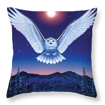 Night Owl Throw Pillow by Chris Heitt