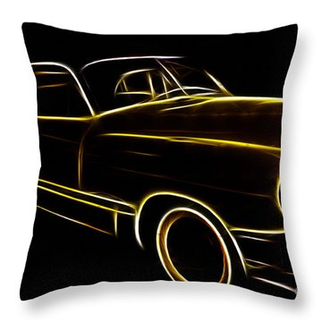 Night Rider Throw Pillow by Cheryl Young
