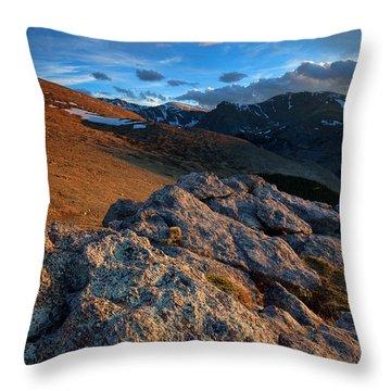 Nightfall Throw Pillow by Jim Garrison