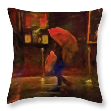 Nightlife Throw Pillow by Michael Pickett