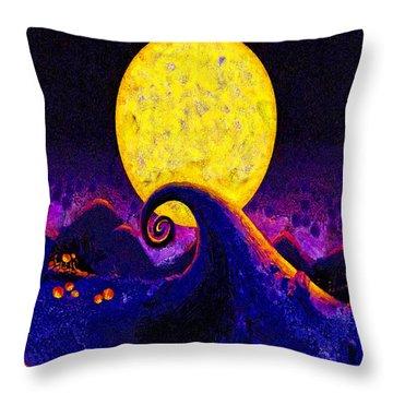 Nightmare Before Christmas Throw Pillow by Joe Misrasi