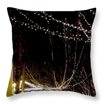 Nights Of Lights Throw Pillow by Kenneth Albin