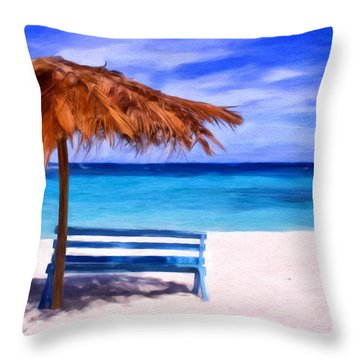 No Coronas Throw Pillow by Michael Pickett