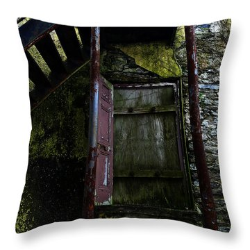 No Entry Throw Pillow by Richard Reeve